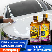 Peinture liquide pour voiture, soin 9H, Nano revêtement céramique, cire de polissage Pro Anti pluie, verre de voiture, Spray hydrofuge