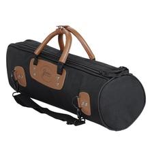 MoonEmbassy 1200D Waterproof Trumpet Bag Case 15mm Padded Oxford Cloth Adjustable Strap Pocket Accessories