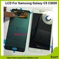 1 pcs ouro branco de alta qualidade display lcd tela de substituição da tela de toque digitador assembléia painel para samsung galaxy c5 c5000