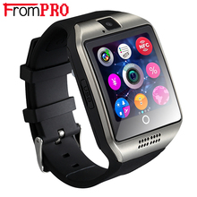 Frompro Bluetooth Smart часы Q18 часы с камерой facebooks Twitter SmartWatch поддержка SIM карты памяти для Apple IOS телефона Android