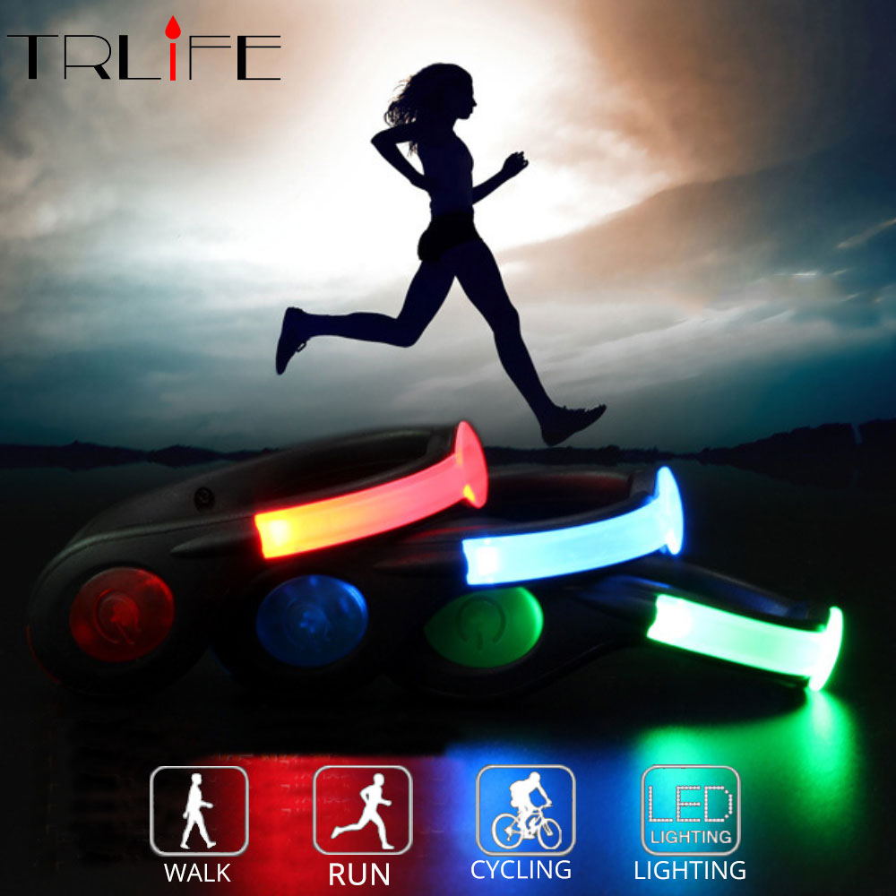 USB Charger Outdoor Bicycle Bike Light LED Luminous Safety Night Running Shoe Clip Cycling Sport Warning Lamp Safety Flash Light