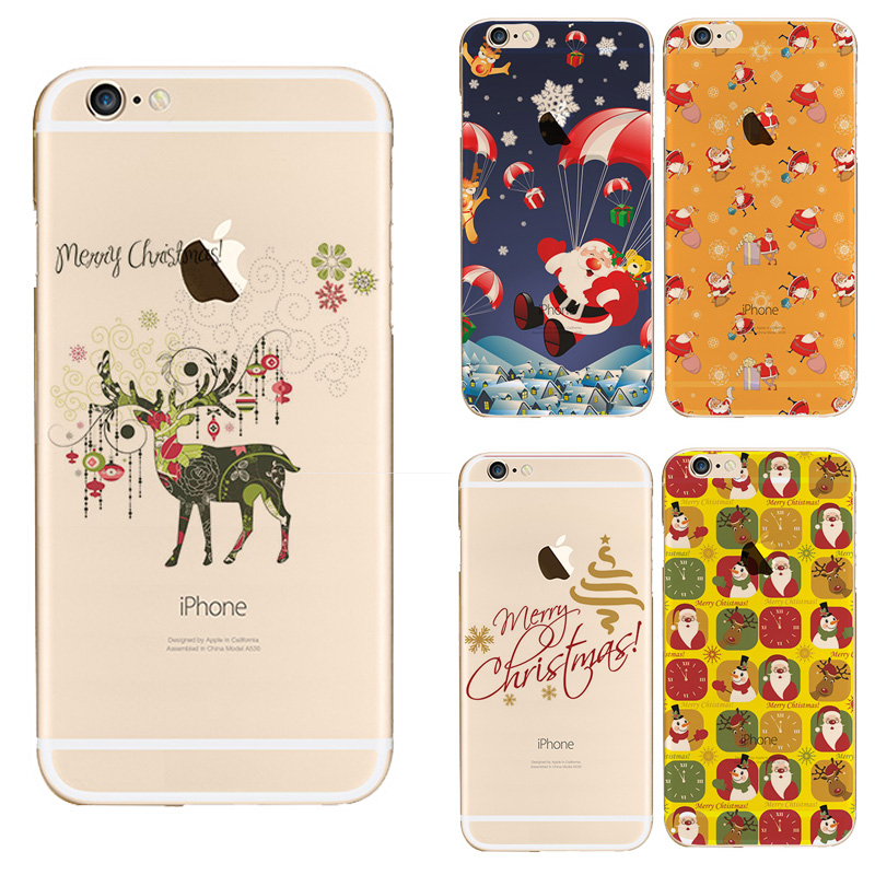 soft cover for apple iphone 6 case merry christmas santa claus elk colorful soft painted case for iphone 6 tpu case in fitted cases from cellphones