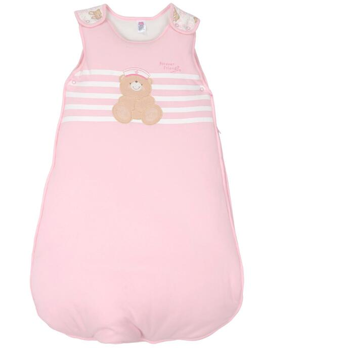 920f40826c Autumn Newborn Sleeveless Baby Sleeping Bag Embroidery Cartoon Bear 100%  Cotton Kids Warm Sleeping Bag-in Sleepsacks from Mother   Kids on  Aliexpress.com ...