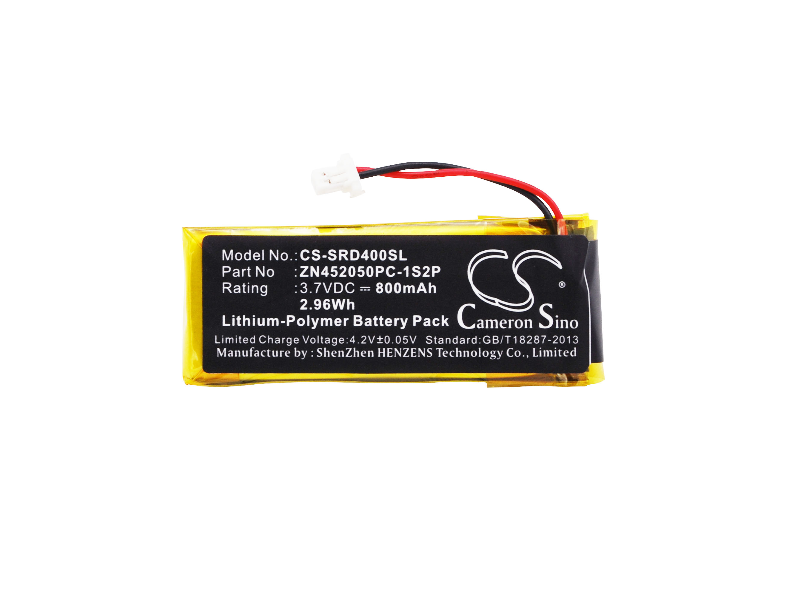 Cameron Sino 800mAh Battery ZN452050PC-1S2P for Cardo Scala Rider G4, G9, G9x, For Schuberth C3