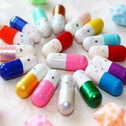 50 шт./лот любовь пустой капсулы для сообщений конверт для бумажного письма для детей таблетки капсулы сообщение письмо Kawaii смайлик Pill