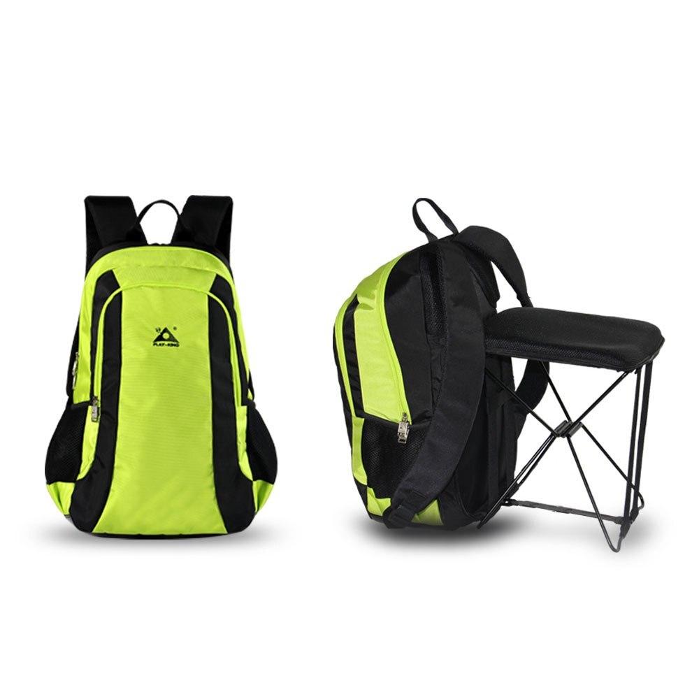 47L Camping voyage sac à dos grande capacité pour voyage sac à dos en plein air randonnée pêche avec chaise pliante sac à dos tabouret chaise