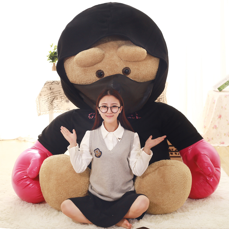 1pcs 240cm Kawaii Spuer Big Size Fighting Bear Stuffed Plush Toys Kids Toys Huge Stuffed Plush Animal Dolls Good Quality Gifts 2018 huge giant plush bed kawaii bear pillow stuffed monkey frog toys frog peluche gigante peluches de animales gigantes 50t0424