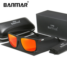 BANMAR Male Luxury Brand Sunglasses Men Polarized Driving UV400 Sun Glasses For Men Square Eyewear Oculos Goggles Masculino banmar aluminum magnesium men sunglasses polarized sports driving goggles sunglass fishing uv400 square sun glasses for men
