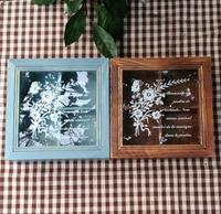 ZAKKA grocery glass cover 4 lattice wooden box creative vintage box home organizer