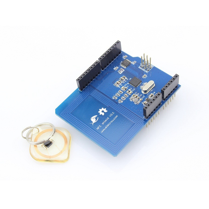 Elecrow NFC Shield for Arduino UNO 13.56MHz Tag SPI Interface NFC RFID PN532 Module IC Card Electronic DIY KitElecrow NFC Shield for Arduino UNO 13.56MHz Tag SPI Interface NFC RFID PN532 Module IC Card Electronic DIY Kit