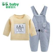 94daffd0ac1e3 Hot thermique nouveau-né bébé garçons vêtements ensembles hiver à manches  longues jarretelle pantalon ensemble tenue pour bébés .