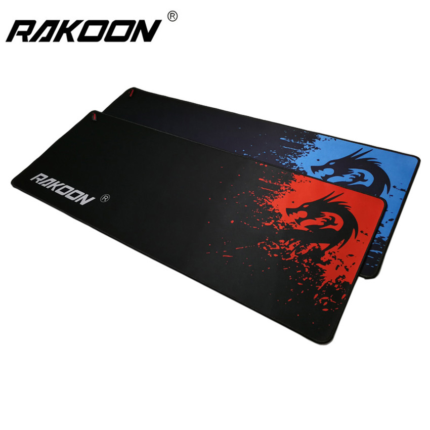 Rakoon Professional Gaming Mouse Pad Blue/Red Dragon 300x800mm PC Laptop Desktop Computer Mousepad Mat for Dot 2 Lol CSGO Gamer image