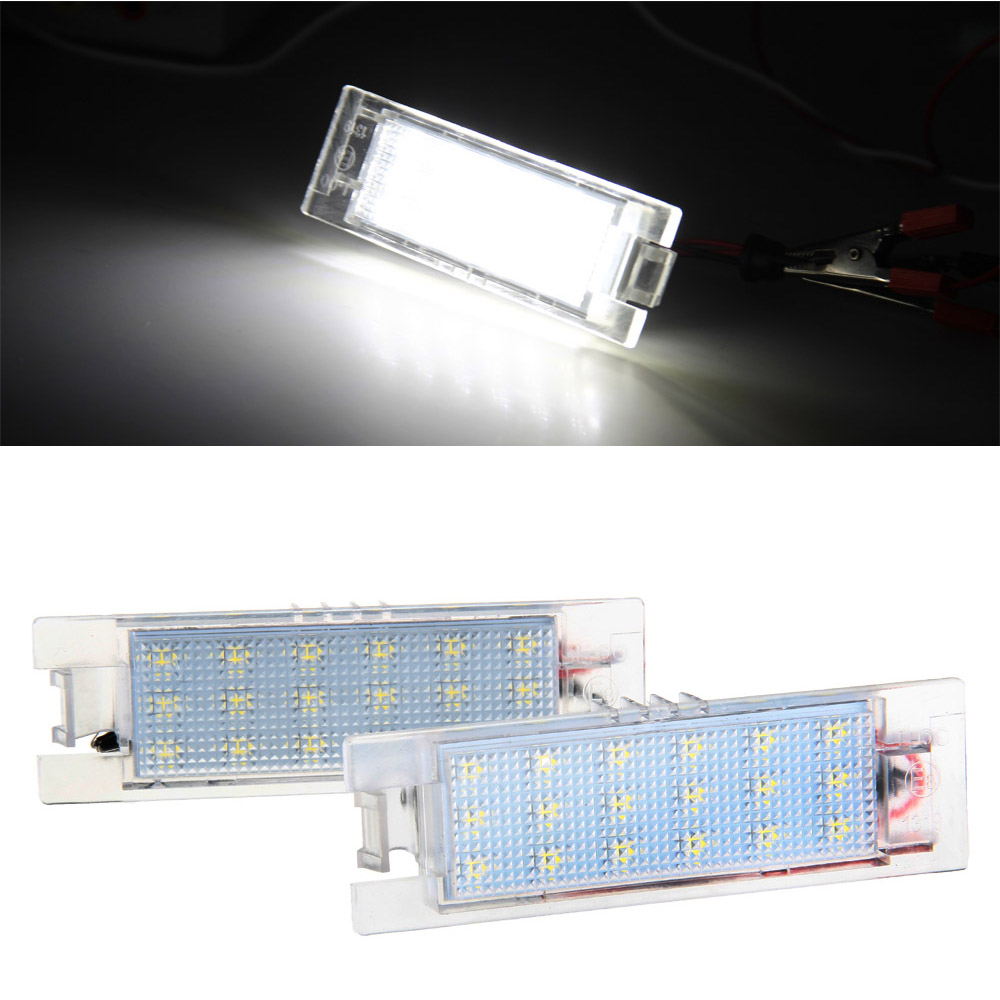 Qook 2piece LED License Plate Light Lamp for Opel Aauxhall Adam Insignia Corsa C D Zafira B Astra H Tigra B Vectra C Meriva A B 18 led license plate lights for vauxhall opel astra corsa insignia tigra zafira 18 smd high power led auto lamps
