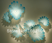 Free Shipping Light Blue Plate Glass Wall Decoration
