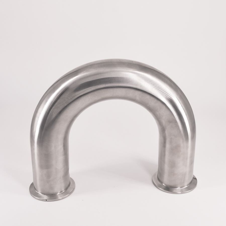 51mm 2 Pipe OD 2 Tri Clamp U Shaped Return 180 Degree Bend SUS 304 Stainless Sanitary Fitting Spliter Homebrew Beer 2 tri clamp sanitary 90 degree elbow 51mm pipe od 304 stainless steel fitting 64mm feerule od for homebrew