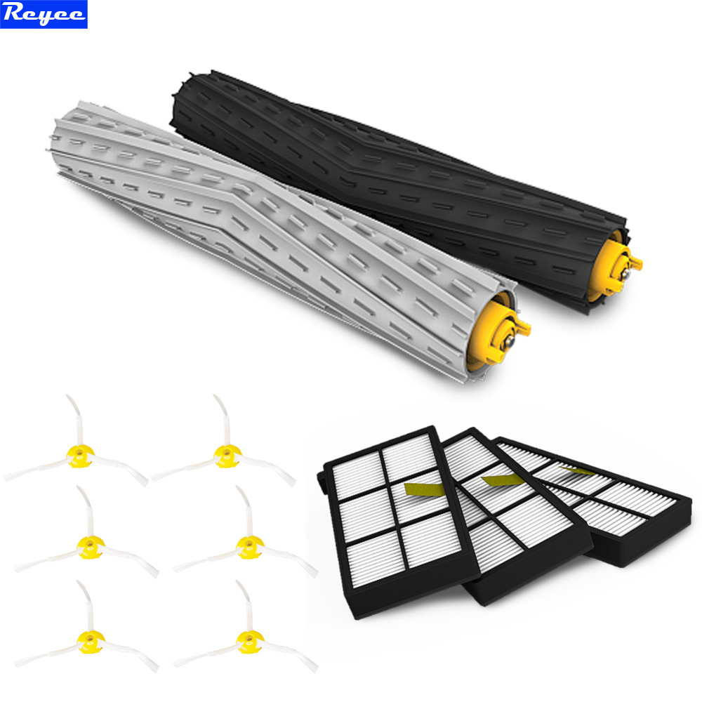 11Pcs Total HEPA Filter Filters Tangle-Free Debris Brush Armed For iRobot Roomba Vacuum 800 Series 870 880 Free Shipping New total 12pcs filters