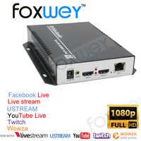 El mejor equipo de transmisión de vídeo en directo independiente a IP para educación en línea con entrada de vídeo HDMI y salida de bucle HDMI FOXWEY