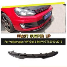 Kohlefaser Renn Stoßstange Frontlippe Chin Splitter für Volkswagen VW Golf 6 VI MK6 GTI Nur 2010-2013