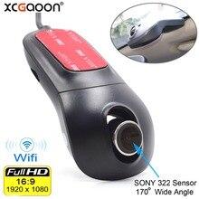 XCGaoon Wi Fi автомобиля регистратор DVR Цифрового Видео регистраторы видеокамера тире камера 1080 P Ночь Версия Новатэк 96655 поворот 60 градусов