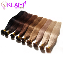 U Tip Pre Bonded Fusion Hair Extensions Straight Brazilian Virgin Hair Natural Hair Tips Keratin Capsule Hair Extensions 50g