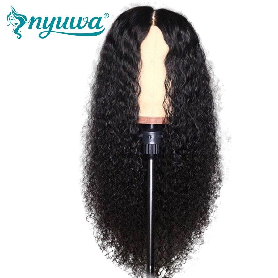 13x6 синтетические волосы на кружеве натуральные волосы Искусственные парики Glueless для черный для женщин предварительно сорвал волос бразиль...
