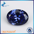 Oval Shape 30Pcs Blue Color 5A  CZ Stone 3x5-10x12mm Synthetic Gems Cubic Zirconia For Jewelry