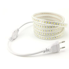5730 120 led/m LED Strip Light 220 V Flexible Ribbon Tape Lamp Bande Tube EU Plug 3000K 4000K 6000K for Kitchen Home Lighting(China)