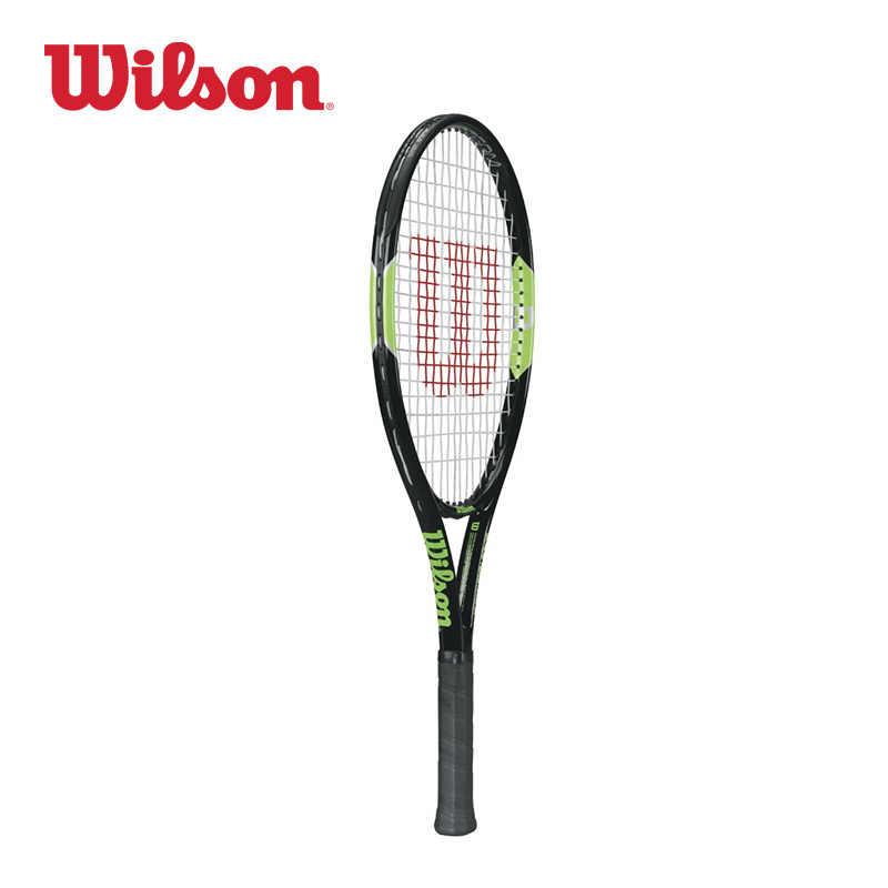 Original Wilson Carbon Alloy Lightweight Junior Tennis Racket Blade Team  25 Absorption Handle Leisure WRT216400