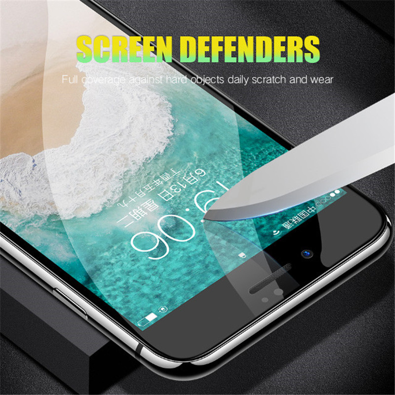 Image 3 - H&A Protective Glass on the For iPhone 7 8 6 6s Plus Tempered Screen Protector Film 0.26mm 6D Curved Edge Glass 7 8 Plus Film-in Phone Screen Protectors from Cellphones & Telecommunications