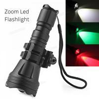 Brinyte светодиодный фонарик 900LM B158 выпуклая линза зум Тактический XM-L2 U4 светодиодный фонарь охотничья лампа с 3 лампами красный/зеленый/белый