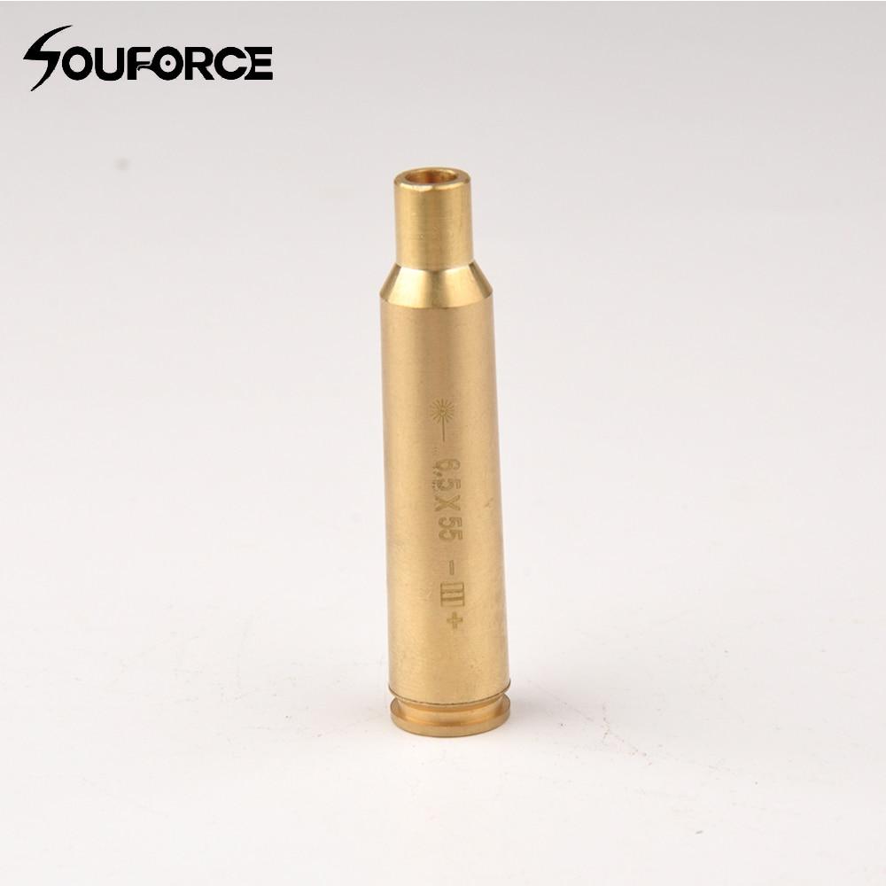 Tactical Red Dot Laser CAL 6.5x55 Rifle Scope Boresighter Cartridge Brass Bore Sighter