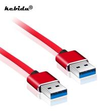 Kebidu 1M USB ל usb 2.0 כבל סוג A זכר לזכר USB 2.0 הארכת כבל עבור דיסק קשיח אינטרנט מצלמה USB 2.0 כבל מאריך