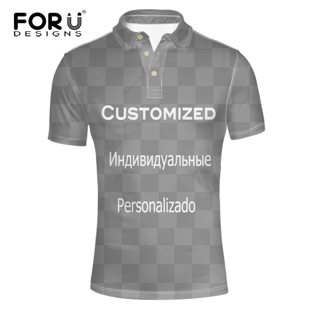 FORUDESIGNS Men s Polo Shirt Customized Holiday Tee Breathable Loose Fit Short Sleeve Summer Casual Short