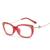 Laura Fairy Fashion Style Cateye Gafas Gafas Marcos Decoración Rhinestone Mosaico de Metal Marco de Las Lentes TR90 2017