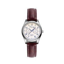 Chaxigo brand 2016 mini ladies watches top luxury brand small case designer black brown clock women leather Quartz Watch