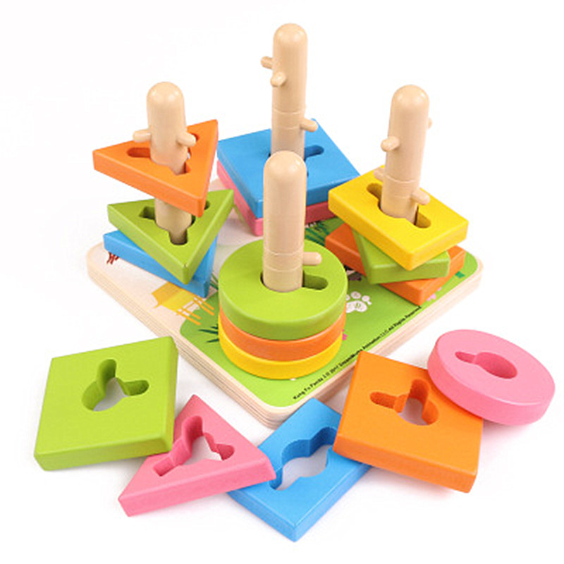 Early childhood education puzzle four sets of column ...