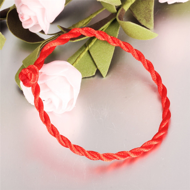 1PC Men Women Good Luck Hand Braided Chinese Red String Rope Cord Bracelet Couple Bangle As Good Gift