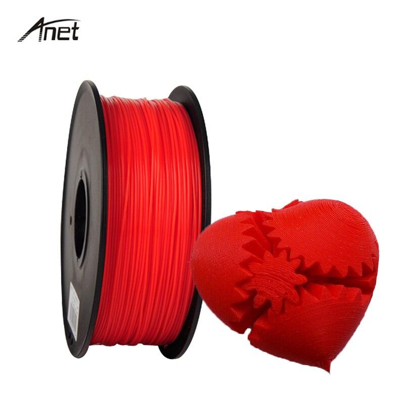 Anet Impressora de Filamento 1.75 milímetros PLA ABS 1KG 3D 1 rolo 1 Filamentos KG Plástico Borracha Consumíveis Para Makerport repRap DIY Caneta Impressão