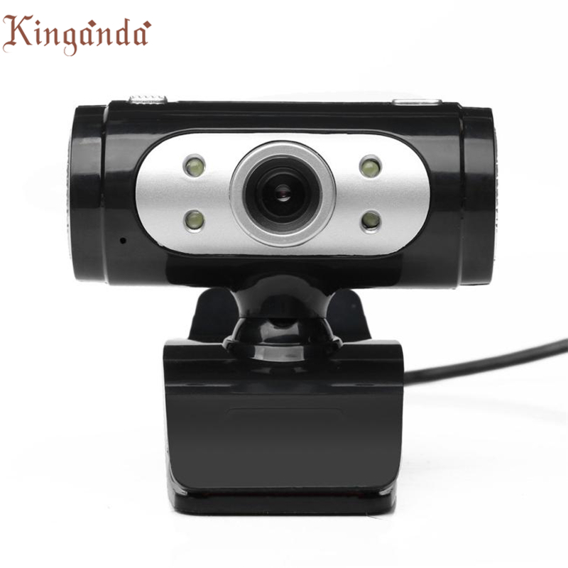 buy webcam 4 led usb 2 0 hd camera web cam with microphone mic for pc laptop. Black Bedroom Furniture Sets. Home Design Ideas