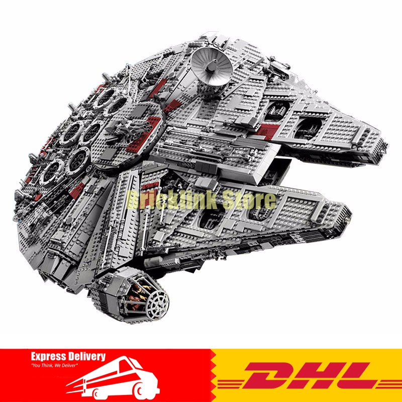 IN STOCK LEPIN 05033 5265pcs Star Ultimate Collector's Millennium Wars Falcon Model Building Kit Blocks Bricks Toy 10179 lepin 05033 wars 5265pcs star ultimate 10179 collector s millennium toys falcon model building kit blocks bricks children toy