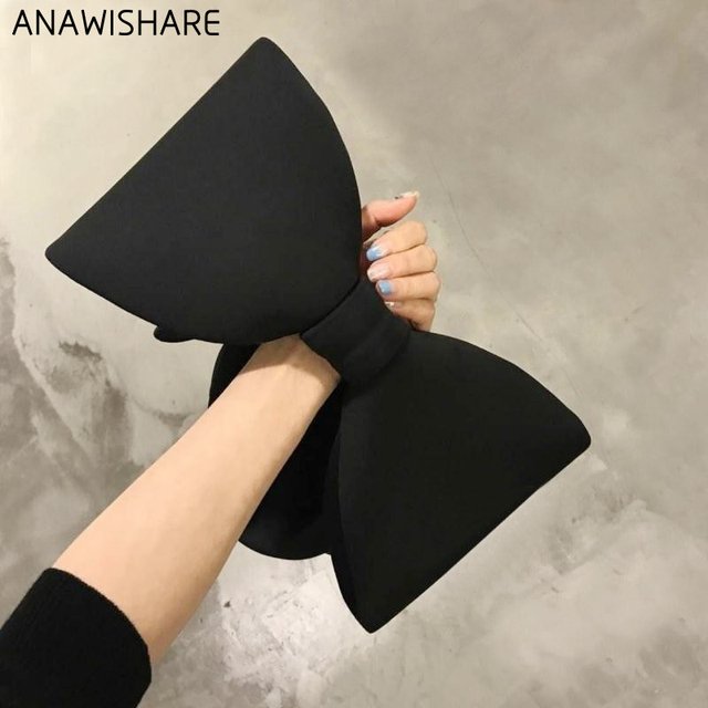 ANAWISHARE Designer's Bow Day Clutches Bag