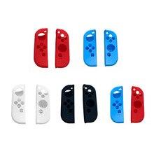 5 estilos para los accesorios del juego NS funda de silicona suave cubierta de la piel izquierda derecha para el interruptor Nintend Joy-Con NS NX controlador de la consola