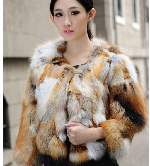 Aliexpress.com : Buy Genuine Red Fox Fur Jacket Nature Fox Fur ...