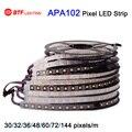 1 m/5 m APA102 Inteligente tira led pixel, 30/32/36/48/60/72/144 leds/pixels/m, IP30/IP65/IP67/IP68 DC5V de DADOS e RELÓGIO separadamente