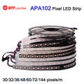 1m/5m APA102 Smart led pixel strip, 30/32/36/48/60/72/144 leds/pixels/m ,IP30/IP65/IP67/IP68 DATA and CLOCK seperately DC5V