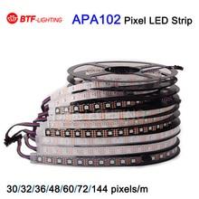 1m/5m APA102 Smart led pixel strip, 30/32/36/48/60/72/144 leds/pixels/m ,IP30/IP65/IP67/IP68 DATA and CLOCK seperately DC5V