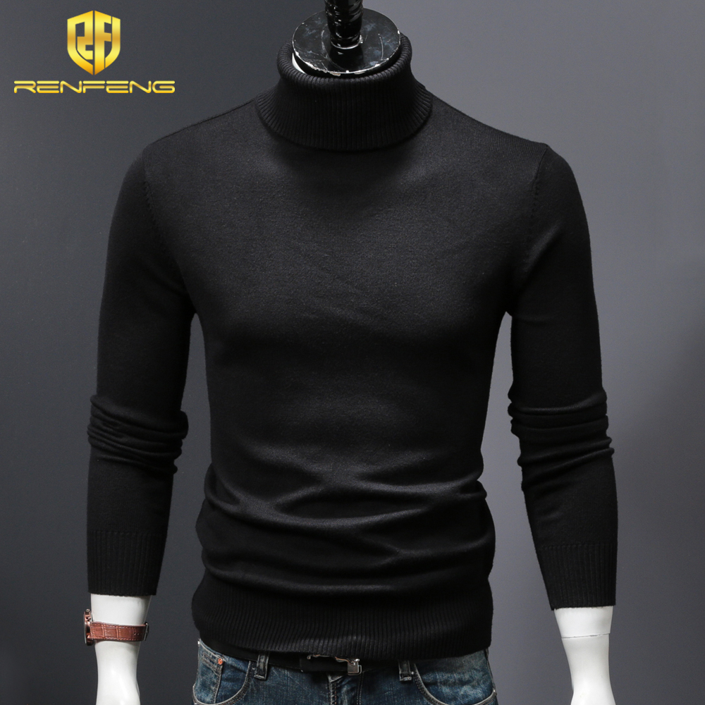 mens wool sweaters 2018 turtleneck men winter shirt christmas sweaters dress man clothes knitwear pullover jumper for male (8)