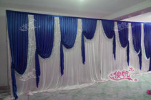 3x6m Luxury White Wedding Backdrop with Beatiful Sequins Swag Wedding drape and curtain wedding decoration free shipping