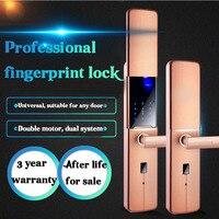 Nhà điện tử an ninh thông minh khóa cửa vân tay trượt khóa vân tay mật khẩu chống trộm từ xa khóa thông minh