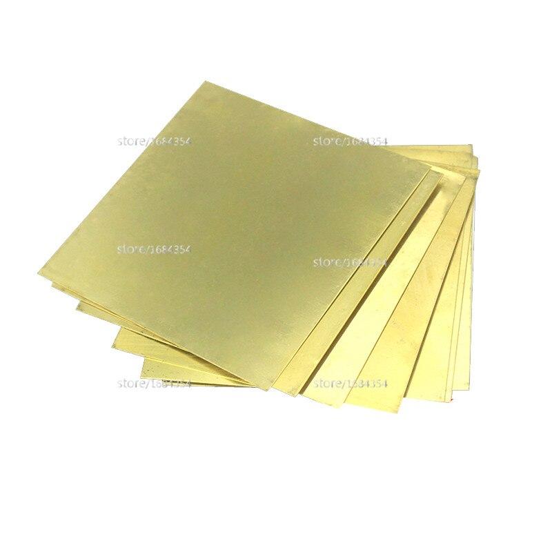 где купить Thin latten flitter gold brass sheet Yellow copper foil Brass plate 0.2 x 100 x 100mm 0.2mm thickness brass strip по лучшей цене